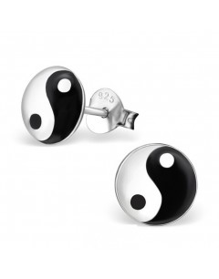 My-jewelry - H19778uk - Sterling silver yin and yang earring