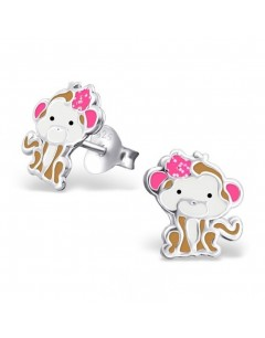 My-jewelry - H19802 - earring cute monkey in 925/1000 silver