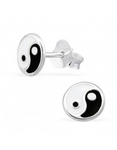 My-jewelry - H21533uk - Sterling silver yin and yang earring
