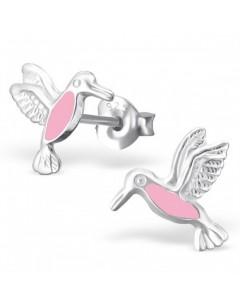 my-jewelry - H21709 - earring hummingbird pink in 925/1000 silver