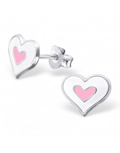 My-jewelry - H21903 - earring heart rose in 925/1000 silver