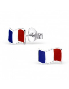My-jewelry - H21906uk - Sterling silver flag France earring