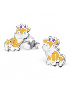 My-jewelry - H22485 - earring lovely cat in 925/1000 silver
