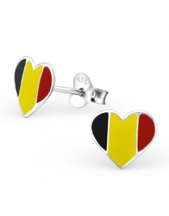 My-jewelry - H23050uk - Sterling silver heart of Belgium earring