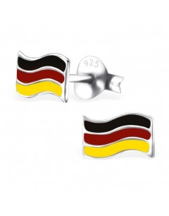My-jewelry - H23809 - earring flag of Germany in 925/1000 silver