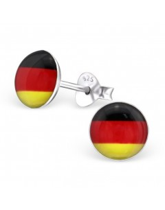 My-jewelry - H24435 - earring in the colors of Germany in 925/1000 silver
