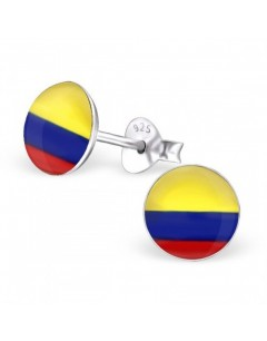 My-jewelry - H24437 - earring the colors of the British in 925/1000 silver