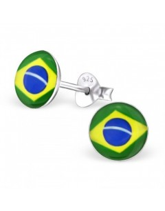 My-jewelry - H24460 - earring in the colors of brazil in 925/1000 silver