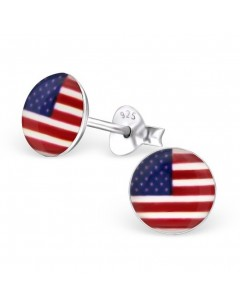 My-jewelry - H24461 - earring the colors of the united states in 925/1000 silver