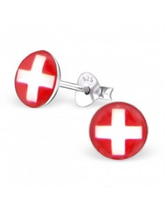 My-jewelry - H24463 - earring the colours of Switzerland in 925/1000 silver