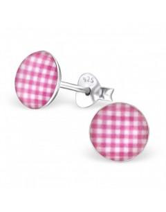 My-jewelry - H24469 - earring diamonds rose in 925/1000 silver