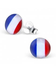 My-jewelry - H26130 - earring the colors of France in 925/1000 silver