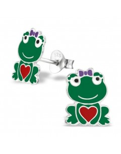 My-jewelry - H26497 - earring the heart of frog in 925/1000 silver