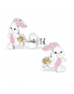 My-jewelry - H28242 - earring small pink bunny in 925/1000 silver