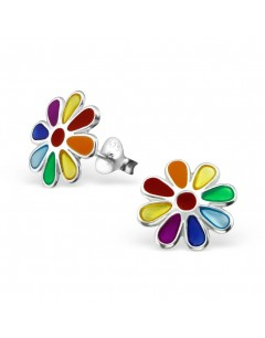 My-jewelry - H11752uk - Sterling silver flower rainbow earring