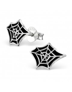 My-jewelry - H13277uk - Sterling silver spider web earring