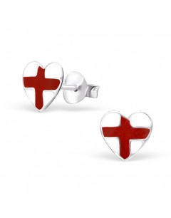 My-jewelry - H21907 - earring flag of England in 925/1000 silver