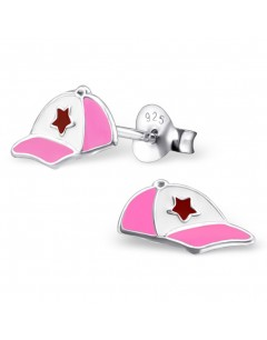 My-jewelry - H22123 - earring pink hat in 925/1000 silver