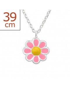My-jewelry - H31090uk - Sterling silver Pretty flower necklace
