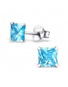 My-jewelry - H23831 - earring zirconia blue in 925/1000 silver