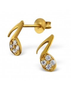 my-jewelry - H14983 - earring chic gold-tone 925/1000 silver