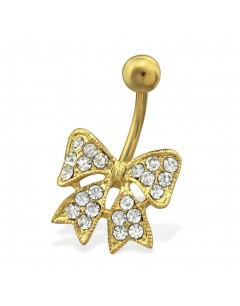 My-jewelry - H29735 - Jolie piercing noeux stainless steel golden