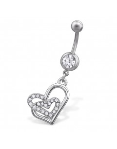 my-jewelry - H29680 - Jolie piercing heart stainless steel