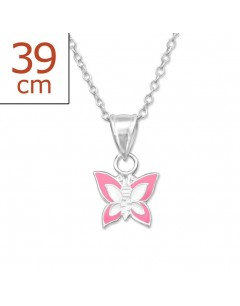 My-jewelry - H10387uk - Sterling silver butterfly Necklace