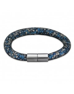 My-jewelry - H31660uk- stainless steel blue crystal and white bracelet