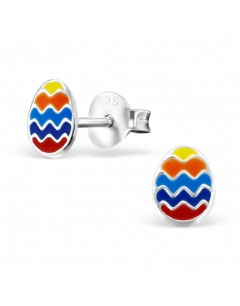 My-jewelry - H21710uk - Sterling silver egg multicolor earring