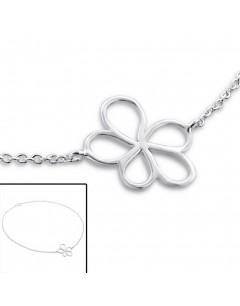 My-jewelry - H3020 - Chain ankle flower 925/1000 silver