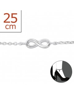 My-jewelry - H5892uk - Sterling silver infinity Chain ankle