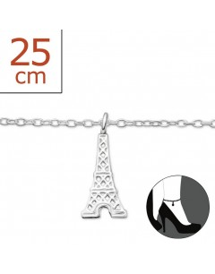 My-jewelry - H235zuk - Sterling silver eiffel tower Chain ankle