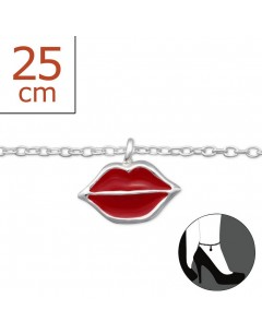 My-jewelry - H1305zuk - Sterling silver kisses Chain ankle