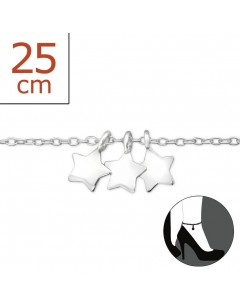 My-jewelry - H1406zuk - Sterling silver star Chain ankle