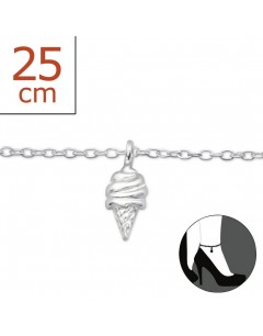 My-jewelry - H1902zuk - Sterling silver Ice Chain ankle