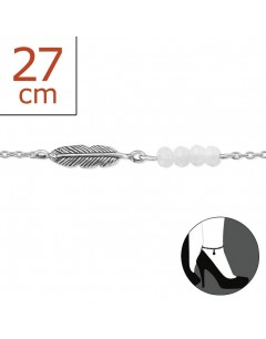 My-jewelry - H1974zuk - Sterling silver feather Chain ankle