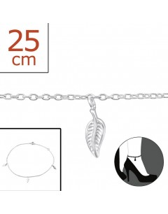 My-jewelry - H2306zuk - Sterling silver sheet Chain ankle