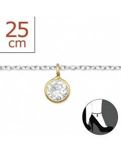 My-jewelry - H2555zuk - Sterling silver Chain ankle