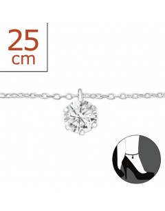 My-jewelry - H2566zuk - Sterling silver Chain ankle
