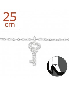 My-jewelry - H6398zuk - Sterling silver key Chain ankle