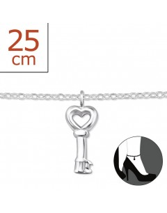 My-jewelry - H6399zuk - Sterling silver key Chain ankle