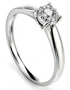 Ring white Gold 375/1000 carats