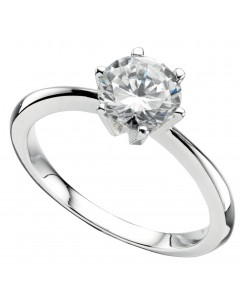 My-jewelry - D926uk - Sterling silver solitaire zirconia ring
