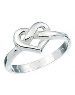 Ring heart in 925/1000 silver