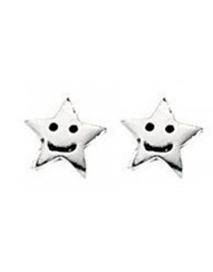 Earring star in 925/1000 silver