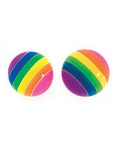 Earring rainbow in 925/1000 silver
