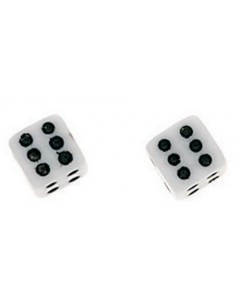 Earring dice in 925/1000 silver