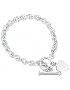 Heart Bracelet in 925/1000 silver