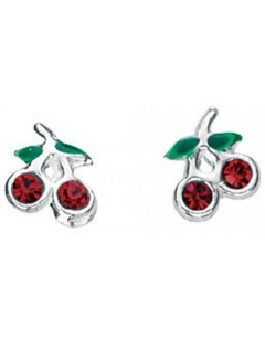 Earring cherry, 925/1000 silver